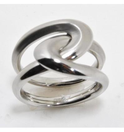 Fossil anello in acciaio JF85643